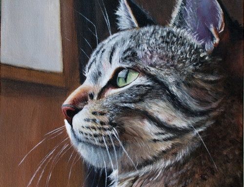 It's Good To Be King – cat painting