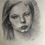 Freckles - sketch by Lisa Acciai