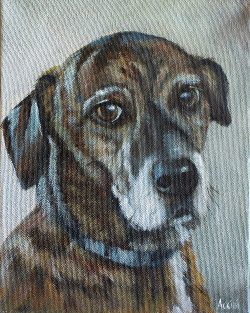 Kelly - painting by Lisa Acciai