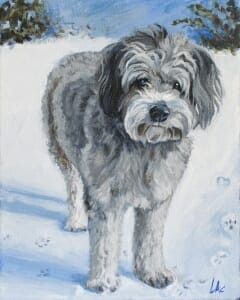 LAc Studio - Original Painting of Dewey by Lisa Acciai