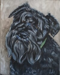 LAc Studio - Original Painting of Henry by Lisa Acciai