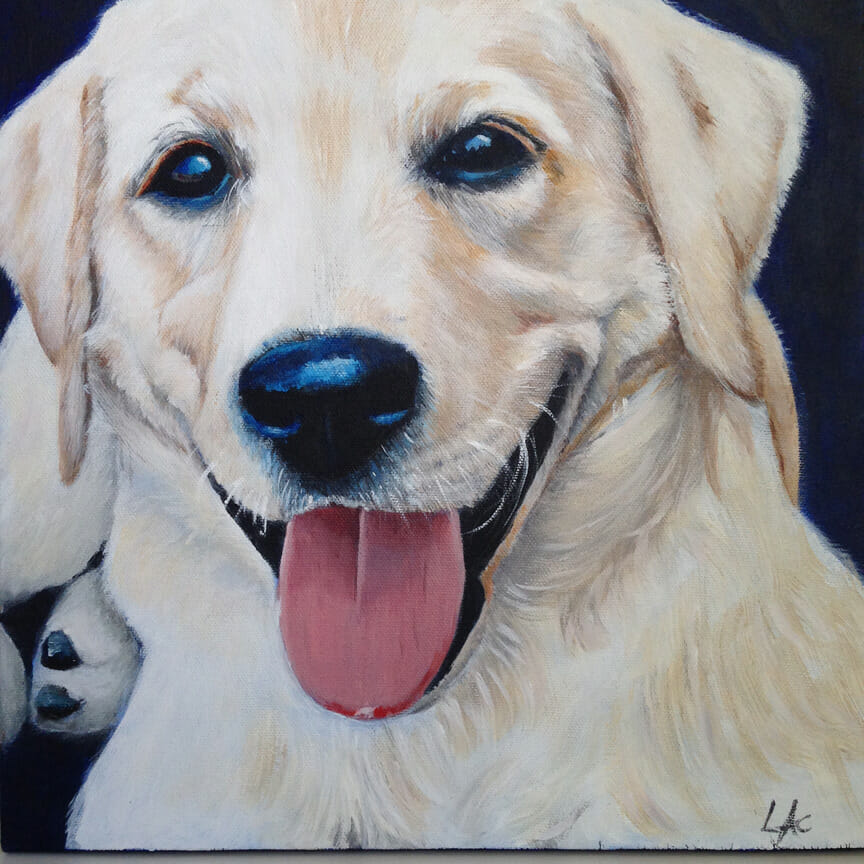 LAc Studio - Pet Portrait Painting of