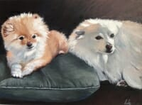 LAc Studio - Original Painting of Lilly and Kaya by Lisa Acciai