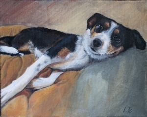 LAc Studio - Pet Portrait Painting of Betsy by Lisa Acciai