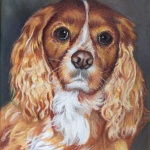 LAc Studio - Original Painting of Lucky (2) by Lisa Acciai