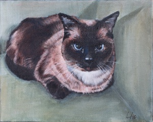 LAc Studio - Pet Portrait Painting of Dorrie by Lisa Acciai