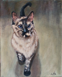 LAc Studio - Pet Portrait Painting of Whisper by Lisa Acciai
