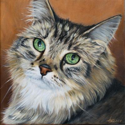 Mojo - oil painting Lisa Acciai