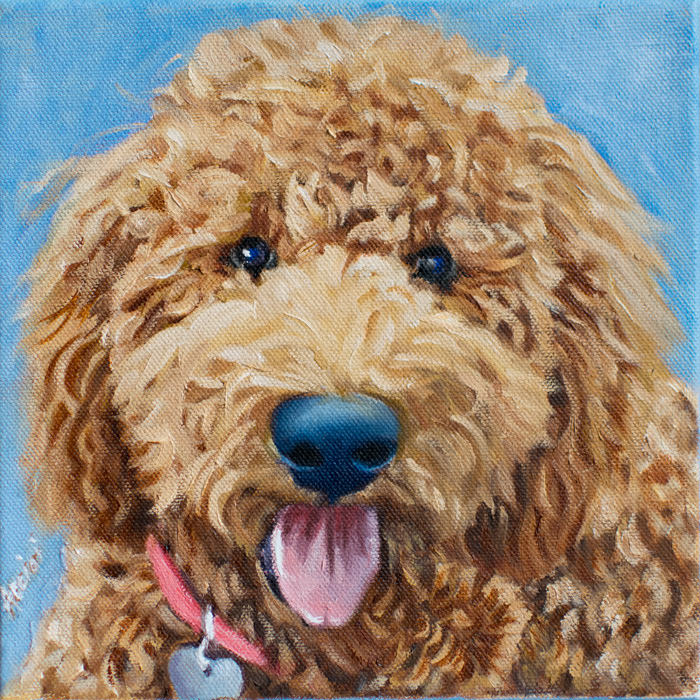 Ellie-oil painting by- Lisa Acciai