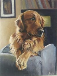 Patiently Waiting - oil by Lisa Acciai - LAcstudio