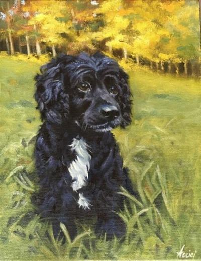 Buster-oil portrait by Lisa Acciai