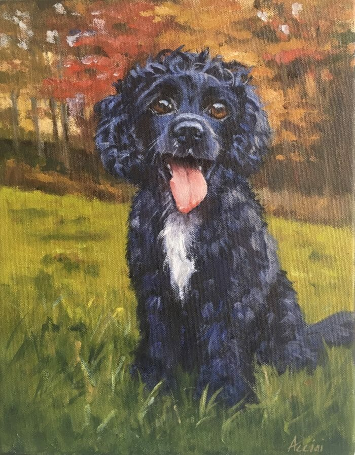 Squeak - oil portrait by Lisa Acciai