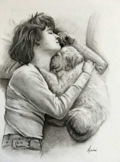 Susie - Charcoal on Paper