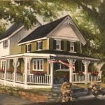 """""""Zeis cottage"""" acrylic painting by Lisa Acciai"""