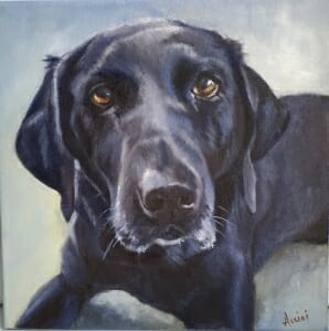 Lucy- oil painting by Lisa Acciai