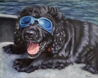 Buster - oil painting by Lisa Acciai