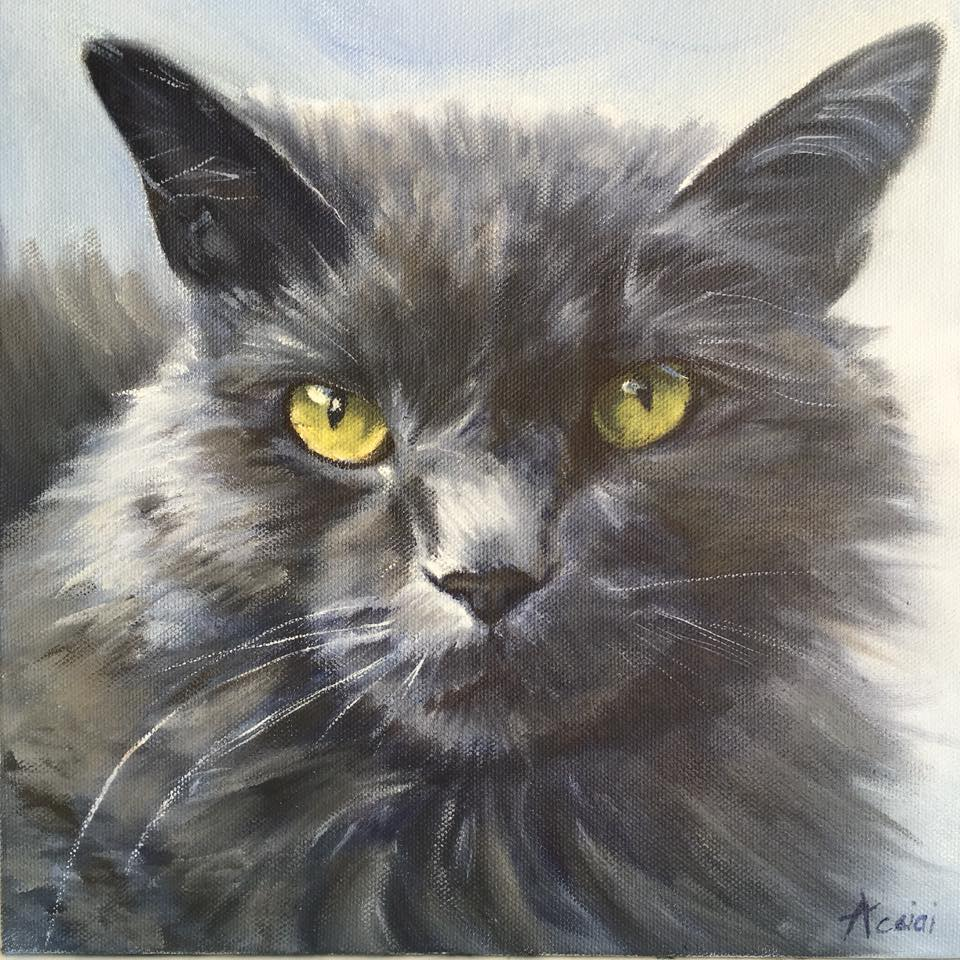 Rudy - oil painting by Lisa Acciai