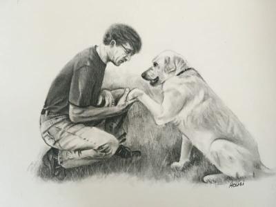 Charcoal drawing by Lisa Acciai