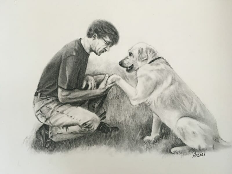 Charcoal drawing by Lisa Acciai