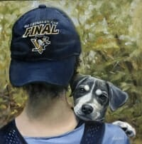 Olivia and Crosby oil painting by Lisa Acciai