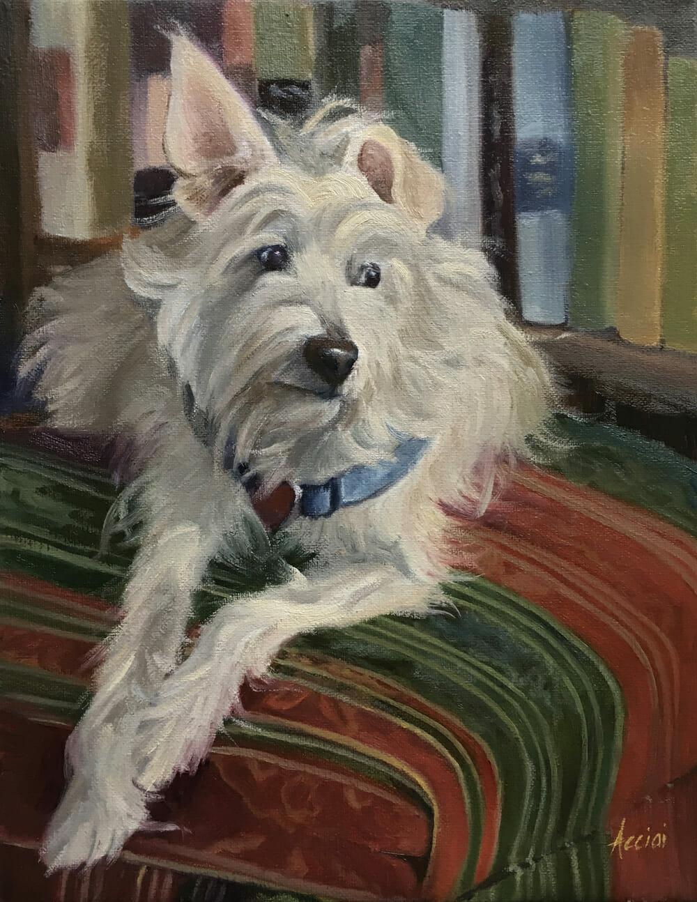 Amy-oil painting Lisa Acciai