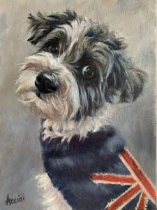 Cooper oil painting by Lisa Acciai