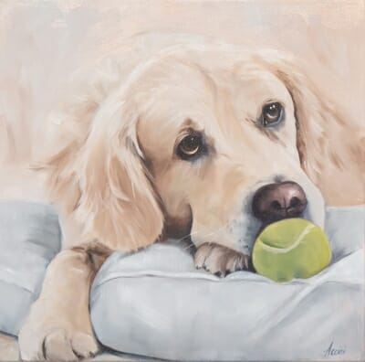 Come Play with Me - oil - Lisa Acciai- L.Ac. Studio