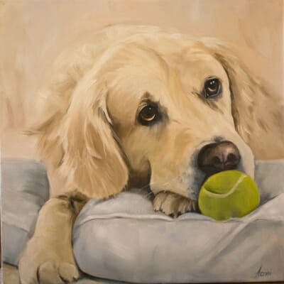 Come Play with Me, oil painting, Lisa-Acciai-oil
