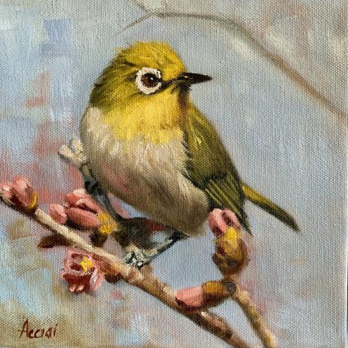 Yellow bird - oil Acciai