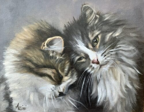 Togetherness oil 8x10 L.Acciai