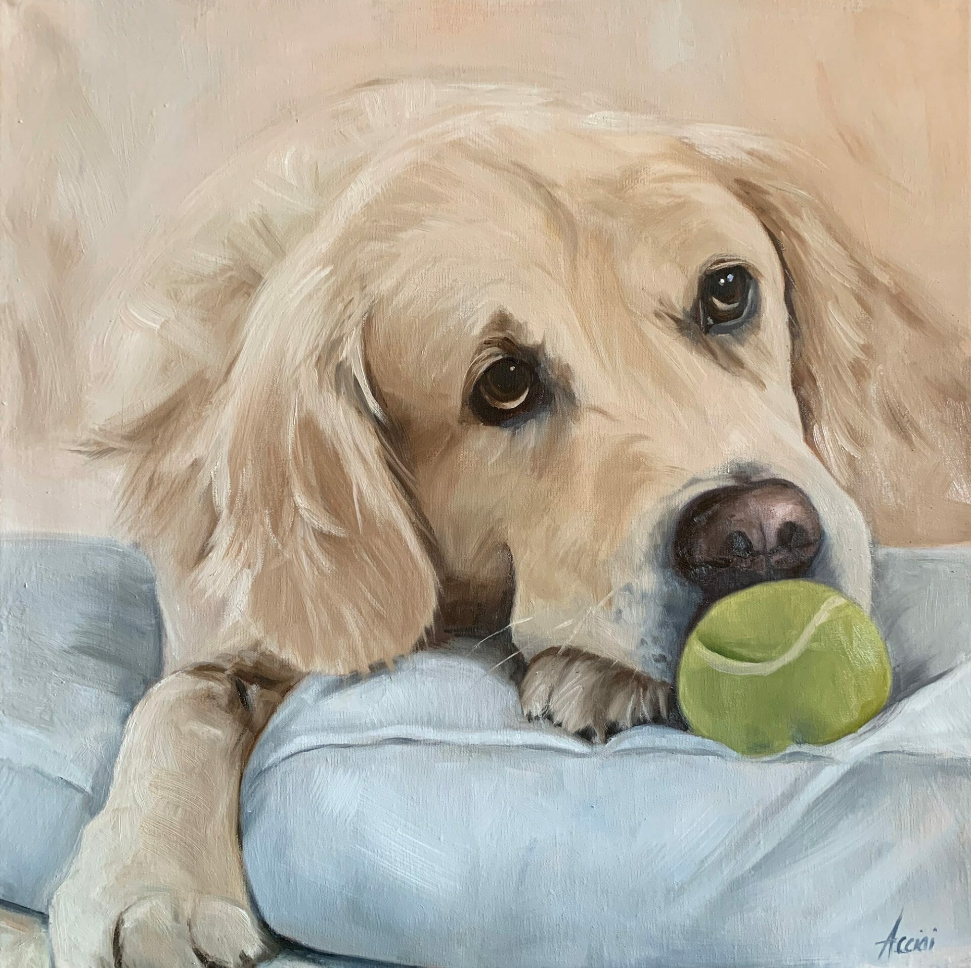 Come Play with Me-oil painting by Lisa Acciai