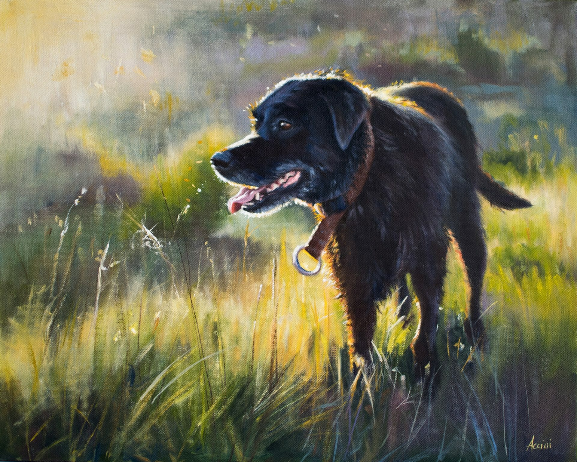 Golden Shimmer - oil painting - Lisa Acciai